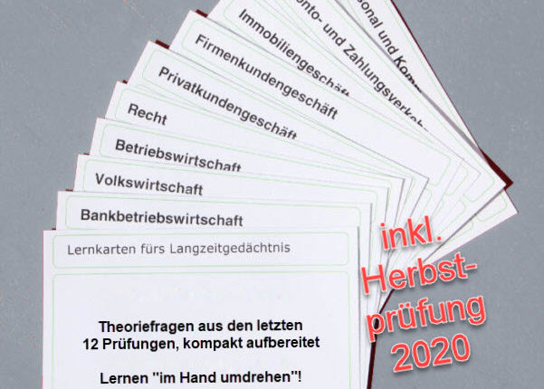Bankfachwirt-Lernkarten aktueller Stand